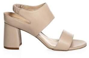 Stuart Weitzman Erica Elastic Strap Block-Heel Sandal