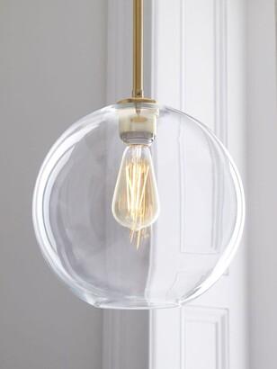 west elm Sculptural Glass Globe Ceiling Light, Clear