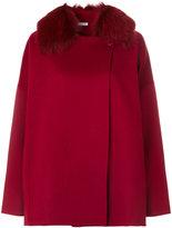 P.A.R.O.S.H. fox fur trim cape coat
