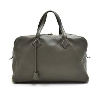 Hermes Victoria Grey Leather Travel bags