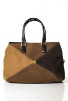 Diane von Furstenberg Brown Leather Zipper Closure 3 Pocket Tote Handbag