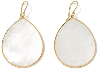 Ippolita 18kt yellow gold Jumbo Polished Rock Candy Single Stone Teardrop mother-of-pearl earrings