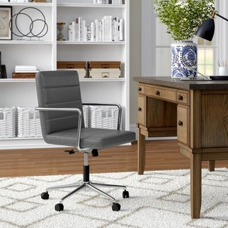 Three Posts Brinley Conference Chair Upholstery Color: Gray Polyurethane