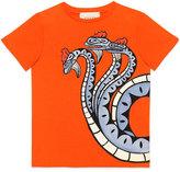 Gucci Three-Headed Dragon T-Shirt, Size 4-12