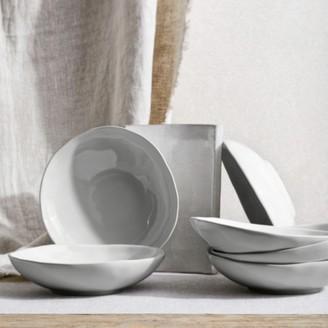 The White Company Portobello Grey Pasta Bowl Set Of 6, Grey, One Size