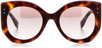 Fendi Eywear Engraved Lettering Sunglasses