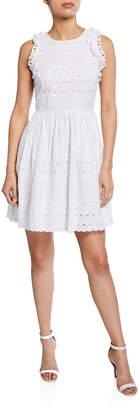 Kate Spade eyelet sleeveless mini cotton dress