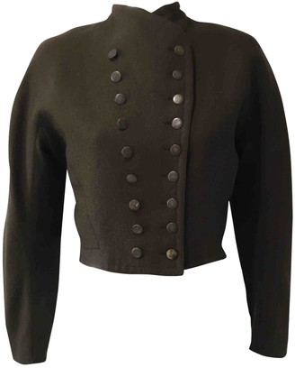 Alaia Khaki Wool Jackets