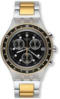 Swatch Men's Irony Diaphane SVCK4076AG Two-Tone Stainless-Steel Quartz Watch with Dial