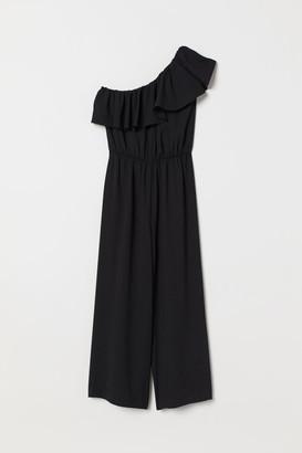 H&M One-shoulder Jumpsuit - Black
