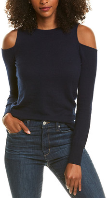 The Cashmere Project Cold-Shoulder Cashmere Sweater
