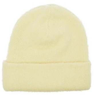 Acne Studios Peele Wool-blend Beanie Hat - Womens - Yellow