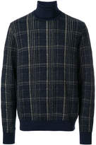 Jeckerson check knitted roll-neck sweater