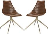 Safavieh Lynette Midcentury Modern Leather Swivel Dining Chair