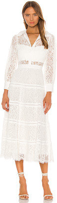 Alice + Olivia Anaya Collared Tiered Dress