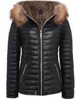 Oakwood Happy Fur Trimmed Leather Jacket
