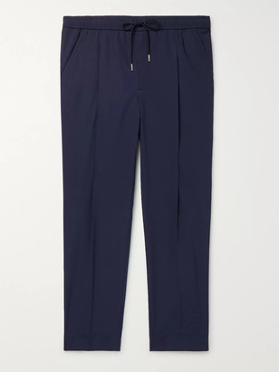 Moncler Tapered Stretch-Cotton Track Pants