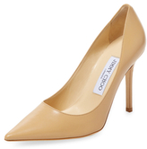 Jimmy Choo Abel Leather Pointed-Toe Pump