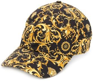Versace Baroque-print baseball cap