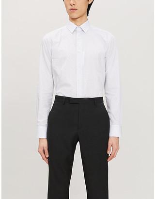 Canali Paisley-print slim-fit cotton shirt