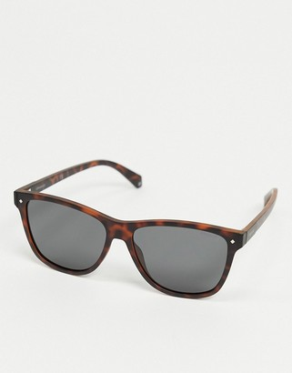 Polaroid Polariod sunglasses in tortoise shell with dark lens