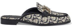 Salvatore Ferragamo Viaggio Embellished Jacquard Slippers