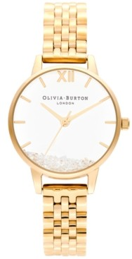 Olivia Burton Women's Wish Gold-Tone Stainless Steel Bracelet Watch 30mm