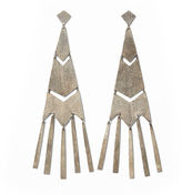 Ralph Lauren Fringed Chevron Earrings