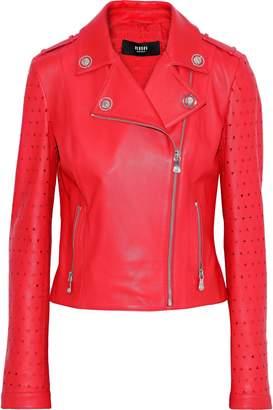 Versace Laser-cut Leather Biker Jacket