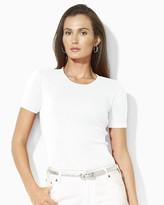 Lauren Ralph Lauren Charissa Short-Sleeved Cotton Crewneck Tee