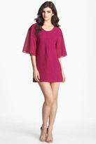 Dress the Population Brooklyn 3/4 Length Sleeve Crepe Shift Dress