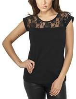 Urban Classics Women's Ladies Top Laces Tee T-Shirt,16
