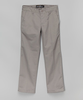 Micros Gray Straight-Leg Pants - Boys