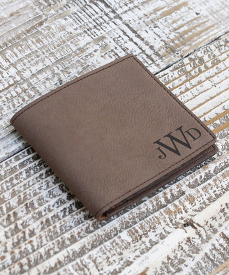 Stamp Out Wallets leatherette - Dark Brown Monogram Leather Wallet