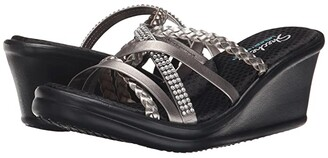 Skechers Cali - Rumblers - Wild Child (Black/Black) Women's Sandals