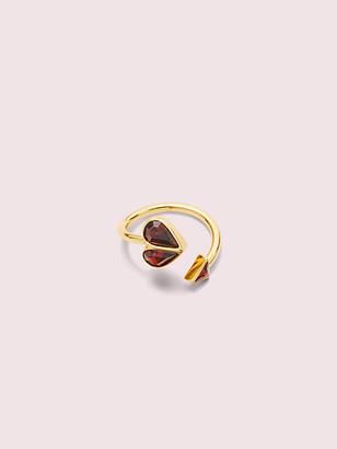 Kate Spade Rock Solid Stone Heart Twist Ring