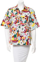 Sportmax Printed Button-Up Top w/ Tags