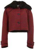 Yang Li cropped plaid jacket - women - Sheep Skin/Shearling/Polyamide/Viscose/Wool - 38