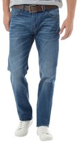 Crosshatch Mens Lartoons Belted Jeans Mid Wash