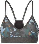 The Upside Masquerade Andie Printed Stretch Sports Bra - Gray