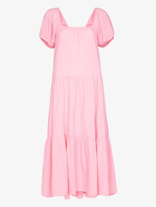 HONORINE Pink Elodie Cotton Midi Dress