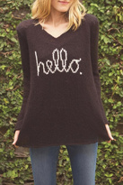 Wooden Ships Hello V Neck Sweater