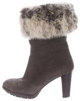 Aquatalia Prince Fur Ankle Boots