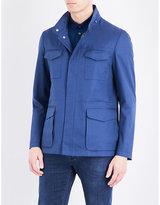 Corneliani Safari Cotton Wool And Silk-blend Jacket