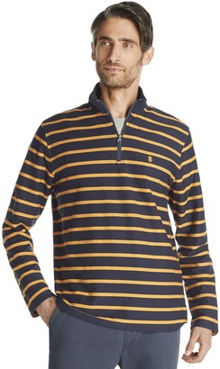 Izod Men's Classic-Fit Striped Quarter-Zip Pullover
