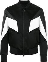 Neil Barrett panelled bomber jacket - men - Lamb Skin/Polyamide/Polyurethane/Viscose - M