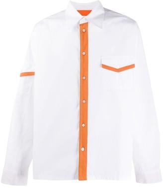 Marni Jersey Contrast Detailing Shirt