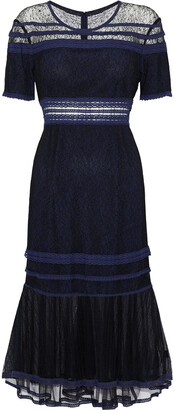 Jonathan Simkhai Crochet-trimmed Corded Lace And Tulle Dress