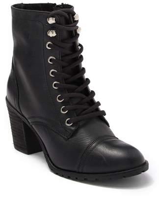 BRIGITTE Zigi girl Leather Block Heel Combat Boot