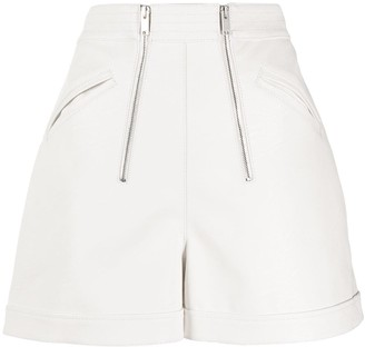 Stella McCartney High-Waisted Double Zip Shorts